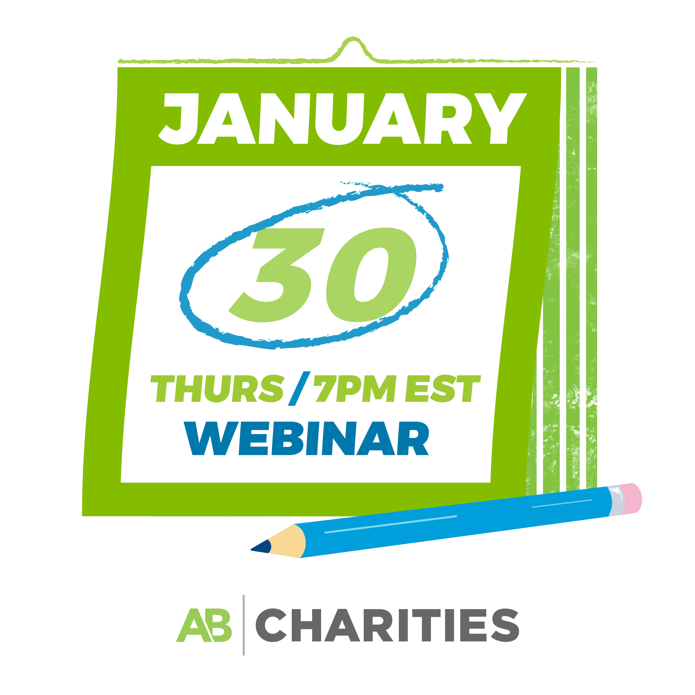 AB Charities' webinar begins on January 30, at 7pm EST