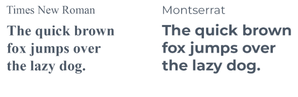 Examples of fonts in sentence