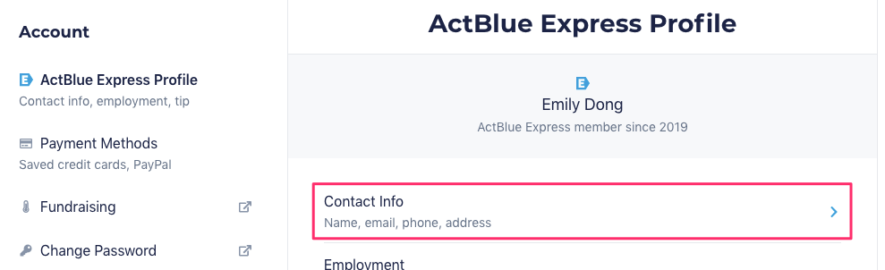 I M Receiving Emails That Address Me By The Wrong Name How Do I Change This Actblue Support